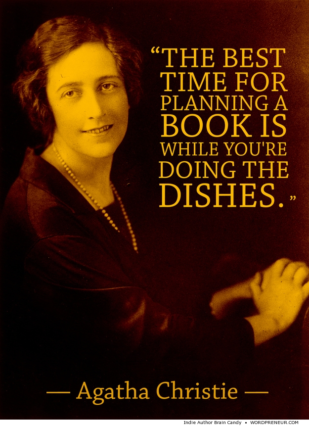 Agatha Christie quote on book planning