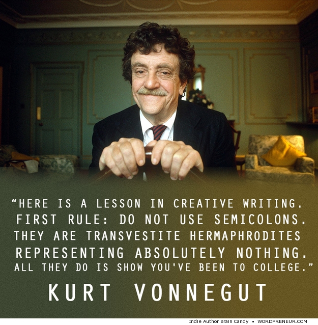 Kort Vonnegut quote creative writing lesson