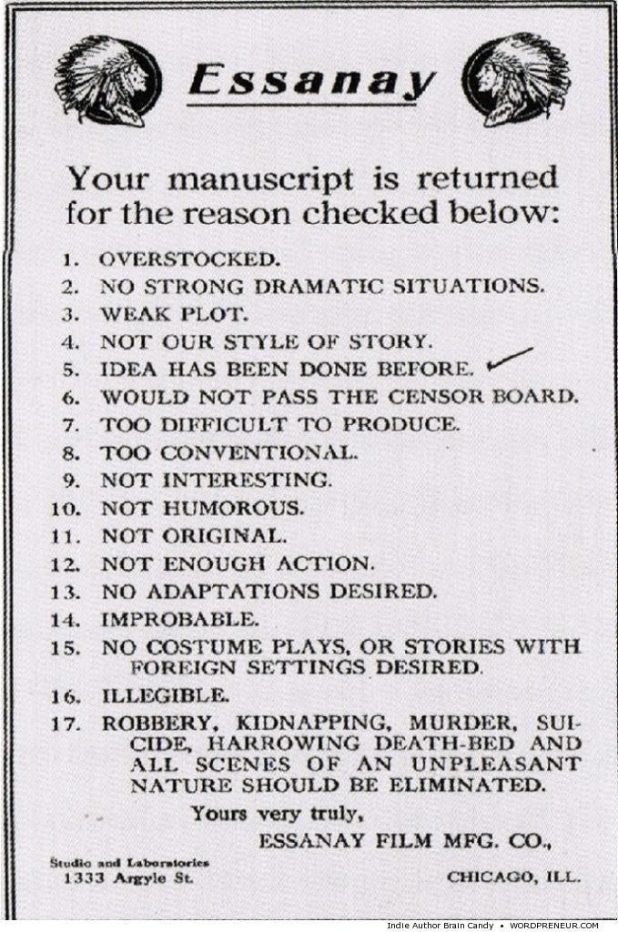 Vintage Rejection Form