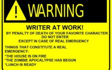Warning - Writer at Work!