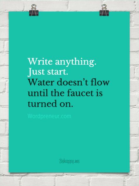 Write Anything. Just Start.