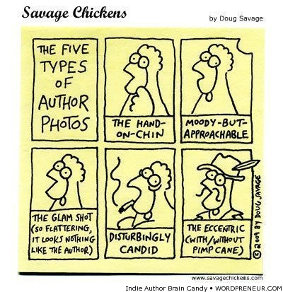 types of author photos