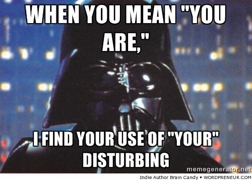 Darth Vader Grammar Nazi