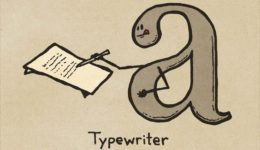 What a typewriter looks like.