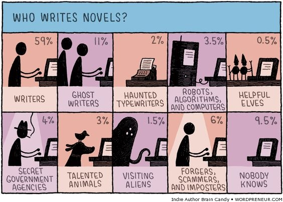 Who really writes novels?