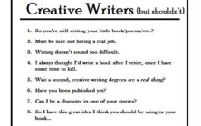 10 Things People Say to Creative Writers (But Shouldn't)