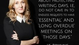 J.K. Rowling on Writing Days
