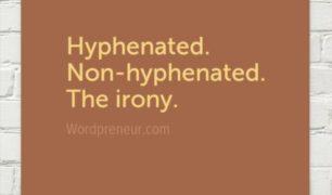 hyphenated irony