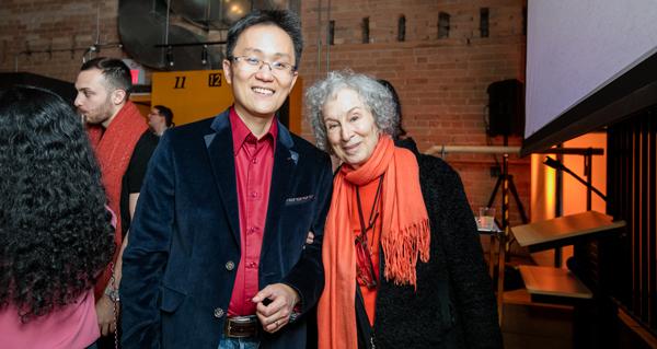wattpad founder allen lau and novelist margaret atwood