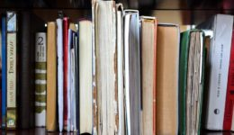 books on a library shelf