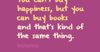 books and happiness quote - printshop