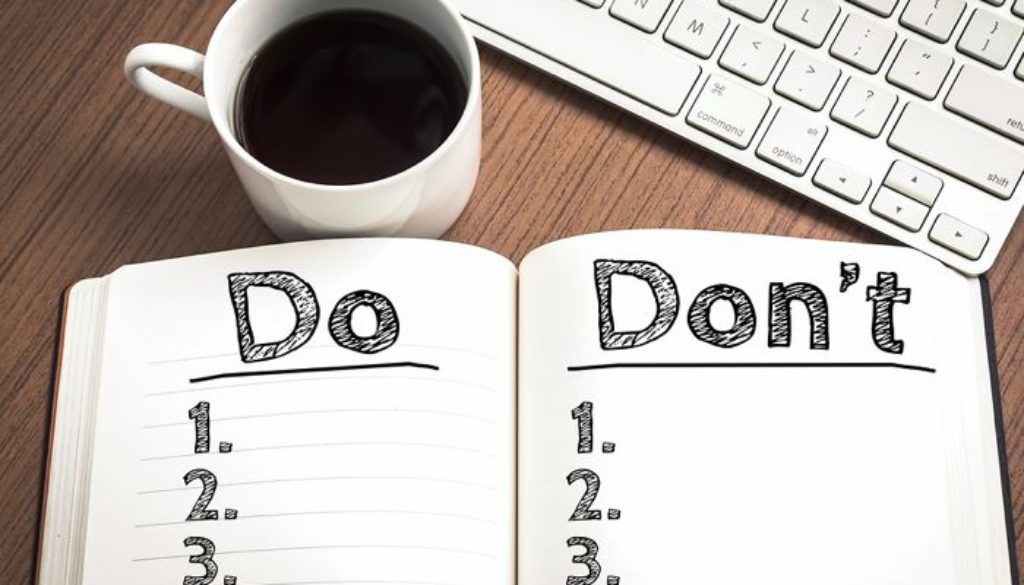 "7 Important Things for a Writer's ""Not-to-Do"" List 
