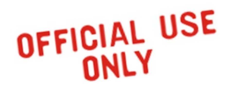 official use only