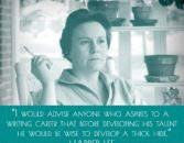 Harper Lee quote on writing careers