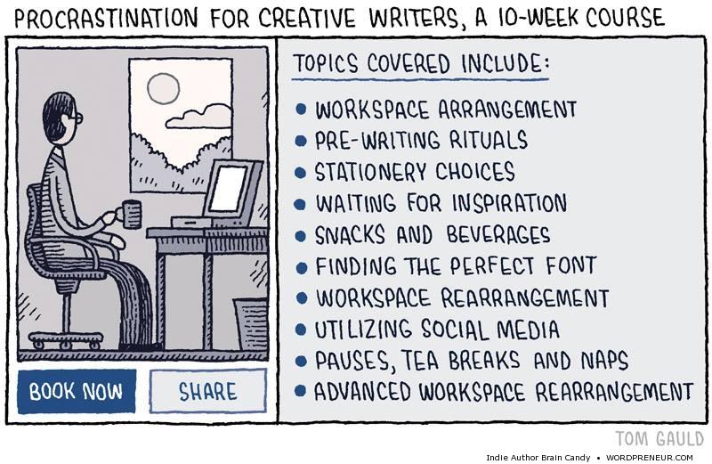 Procrastination for Creative Writers
