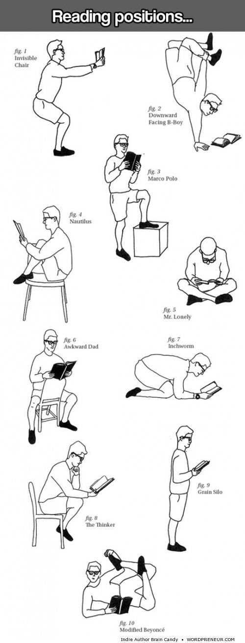 reading positions to try