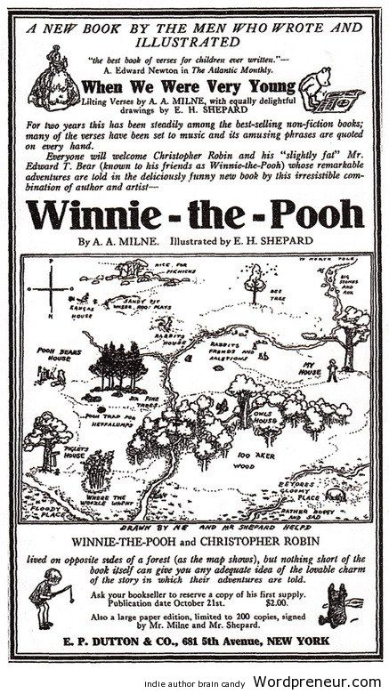 The original Winnie-the-Pooh Advertisement