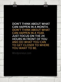 Don't think too much motivational quote