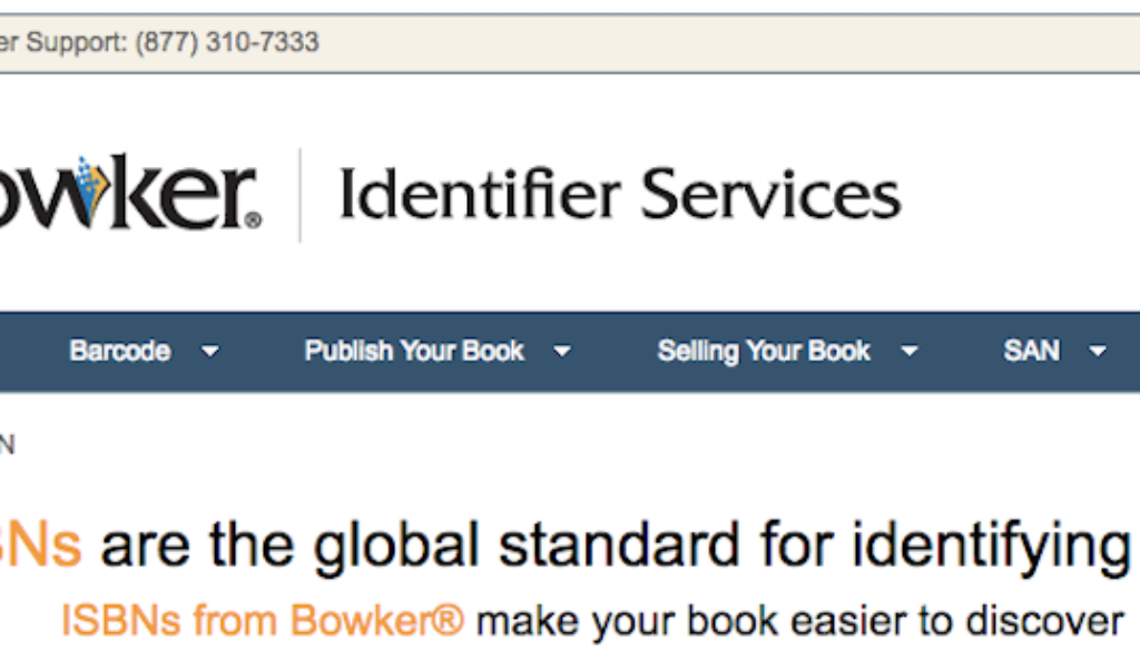 ISBN 101 For Self-Publishers