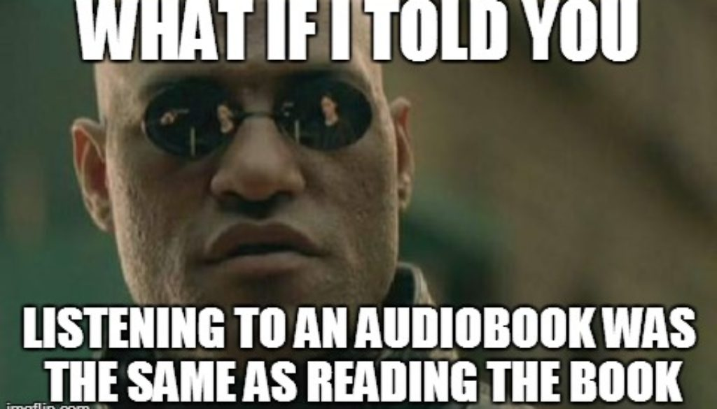Are Audiobooks REAL Books?   YOURS IN STORYTELLING…
