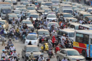 traffic jam hanoi