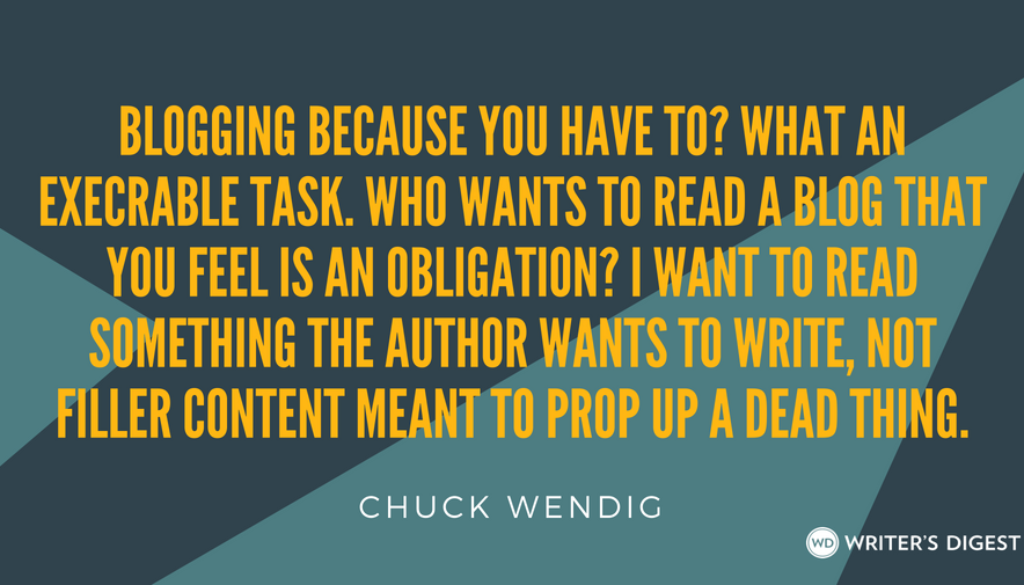 5 Ways an Author Blog Could Kill Your Writing (and What to Do Instead)   WritersDigest.com