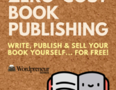 zero-cost book publishing book cover